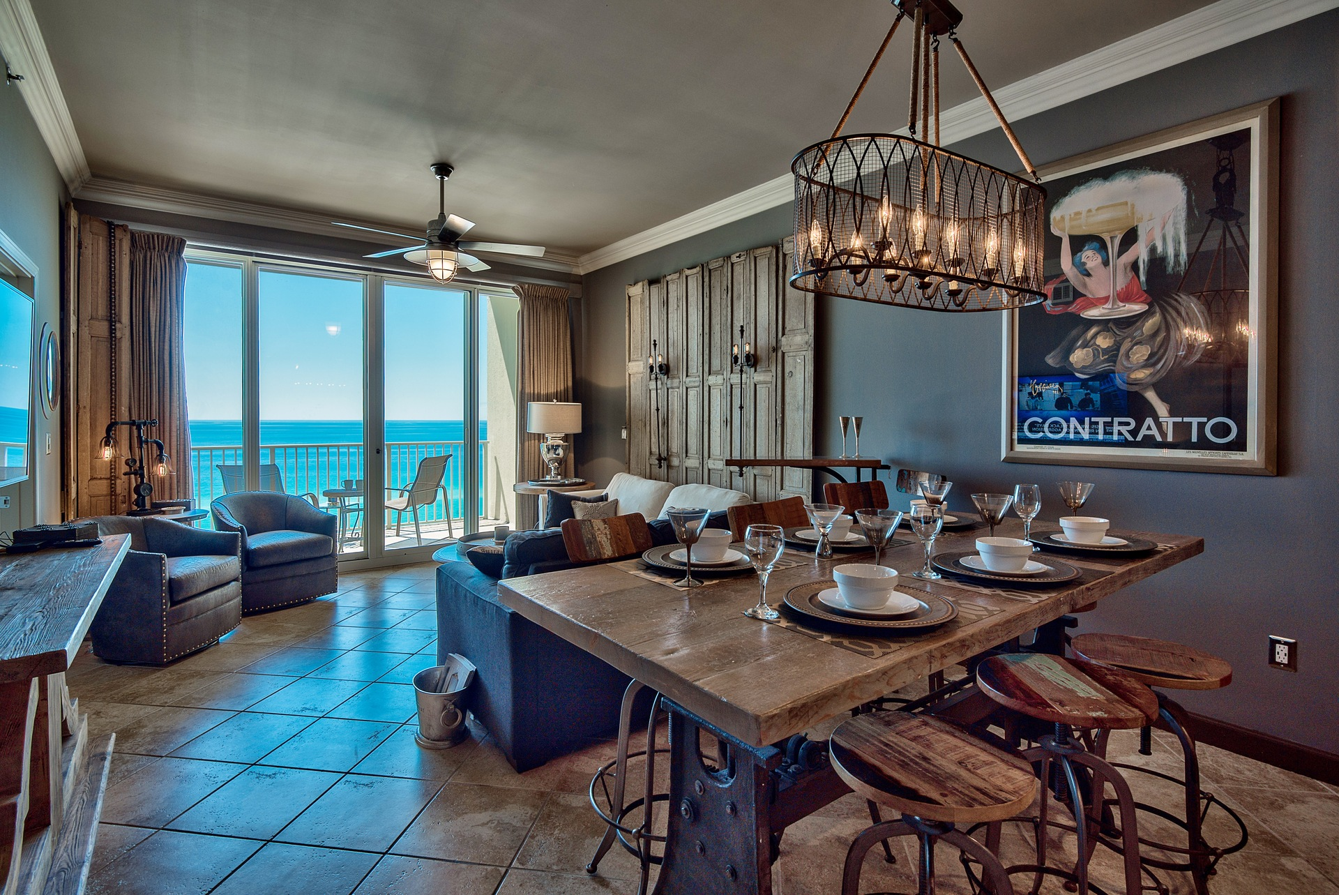 Open concept design with a view of the Gulf as soon as you enter!